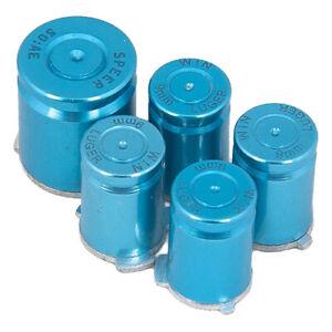 ZedLabz aluminium alloy metal ABXY home 9mm bullet button set for Xbox 360 blue