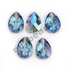 50//72pcs Teardrop Crystal Bead Faceted Center Drilled Jewelry Findinds 6//10mm PW