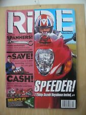 RIDE   MAGAZINE MARCH 1999  USED