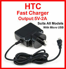 HTC One XL SV M7 8X X One Mini 2 One M8 One Gold One Max Fast AC Charger  5V-2A