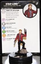 WIZKIDS HEROCLIX MARVEL STAR LORD #004 Guardians of the Galaxy VOL2 W/CARD
