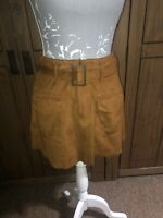 Zara Ladies Size Small Approx 8 10  Tan Orangey Faux Suede Skirt  Sought After