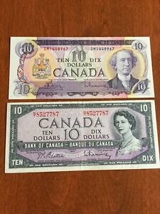 BANK OF CANADA CURRENCY BANKNOTE BILL LOT  $10  1954  1971