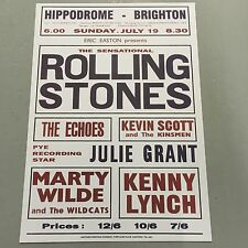 ROLLING STONES - CONCERT POSTER HIPPODROME BRIGHTON SUNDAY 19TH JULY   (A3 SIZE)