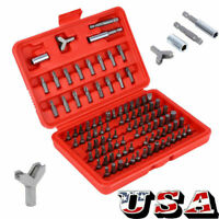 100 Pcs Security Bit Screwdriver Bit Set Torx Star Pozi Hex Tamper Proof Bolts