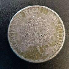 1932-A  5 Reichsmark Silver Coin