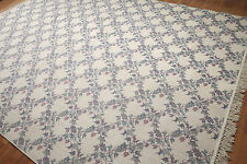 9' x 12' Made in Spain 100% Wool Aubusson Design Area Rug AOR7772 pile 9x12
