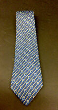 HERMES PARIS  Blue  Stripe Knot Pattern Silk Tie 7168 FA