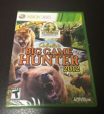 Cabela's Big Game Hunter 2012 (Microsoft Xbox 360, 2011) Brand New