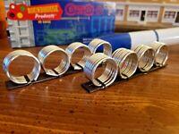 HO Scale Handcrafted metal coils Flatcar & Gondola Load