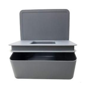 Wet Wipes Dispenser Holder Tissue Storage Box Case with Lid Home Stores