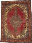 Vintage Antique Red Traditional 10X13 Floral Medallion Oriental Rug Decor Carpet