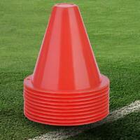 10pcs Soccer Training Cones Footballs Barriers Plastic Markers Holders Accessory