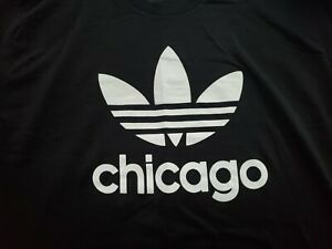 Chicago Adidas Trefoil T-Shirt Size L Pre-Owned