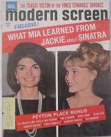 Modern Screen Magazine Nov 1965 THE BEATLES Mia Farrow Jackie Kennedy GILA GOLAN