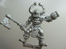 1x Champion of Tzeentch metal citadel GW  Chaos axe & flamer arm mutation