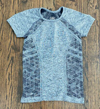 ATHLETA Girl Light & Dark Heathered Gray Trim Details Size XS 6