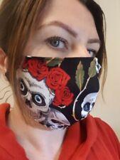 Atemmaske Mundschutz Maske Handarbeit Mundmaske stylisch Totenkopf waschbar neu