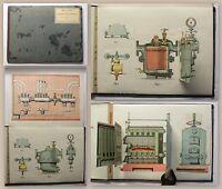 Haentzschel-Clairmont Modell-Atlas zum modernen Heizungs-Monteur um 1900 Technik