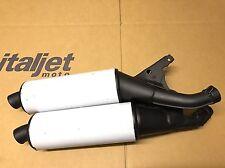 Italjet Formula 125cc Exhaust Silencers Pair Genuine New Factory Part