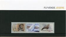Norway 2018 MNH Birds Snowy Owl 3v S/A Set Presentation Pack Owls Hawks Stamps