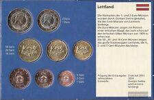 Lettland 2014 Stgl./unzirkuliert Kursmünzensatz 2014 EURO-Erstausgabe