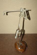 Warren Hooper Glass GOLFER SCULPTURE RARE SIGNED BY ARTIST