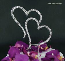 Exklusive Tortendekoration für Hochzeit, funkelnde Herzen, zum Brautkleid, Braut