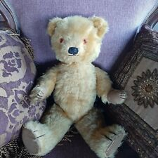 OLD Vintage Antique Chad Valley English Jointed Mohair Teddy Bear c. 1950s