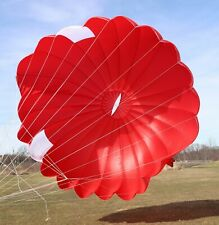 23ft steerable round reserve parachute canopy - red - MINT