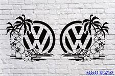 "VOLKSWAGEN VW Extra Grande 17"" logotipo Calcomanía X2 Transporter T6 T5 T4 caravanas Surf"