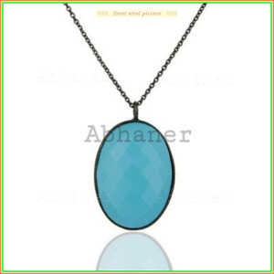 Oxides Unique Classic Necklace Turquoise Necklace 925 Sterling Sliver Jewelry