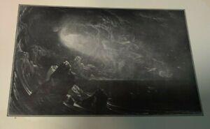 1910 SPIRIT ON THE WATERS Bible Print OT Genesis John Martin Creation