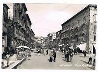 agropoli una strada del centro mercato animatissima anni 50 spedita