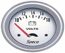 """SALE- SPECO METER PRO SERIES 2 5/8"""" 10-18 VOLT VOLTMETER GAUGE -UNIVERSAL"""