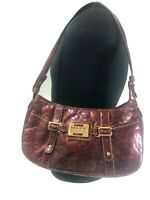 MAXX NEW YORK WOMEN'S Signature Red Bordeaux Purse Hand Bag  Accessory