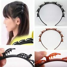 Women Hair Band Hoop Accessories Twist Clip Headband With Toothed Braid Gift NEW