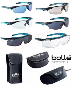 Bolle Tryon Safety Glasses Anti-Scratch & Anti-Fog Lens /// Polyester Case Pouch