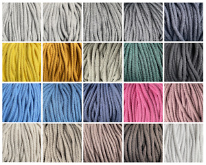 5mm Cotton Braided String Cord Laces Craft Macrame Drawstring Crochet poly core