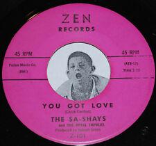 "Girl Group 45~THE SA-SHAYS~You Got Love / Boo Hoo Hoo~Zen 101 CLEAN Vinyl 7"""