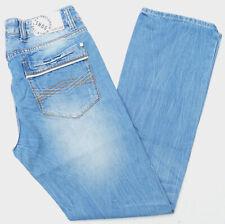 Smog Herren Men Jeans Hose 31/32 W31 L32 Straight Denim stonewashed Blau B432
