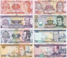 Honduras - set 8 banknotes 1 2 5 10 20 50 100 500 Lempiras 2008 - 2014 UNC