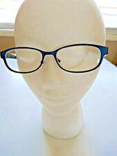 Blue Foster Grant Women's Readers 1.75 Glasses Metal Frame Patterned Arm