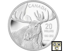 2012 'Bull Moose from the Moose Family' Prf $20 Silver 1oz .9999Fine(NT) (13032)