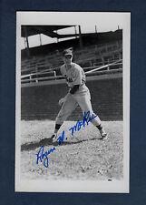Autograph: ROGER H. McKEE [1926-2014], 1943-44 Phillies ~ postcard-size photo