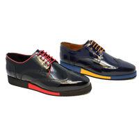 Futoli-Men Genuine Leather Oxford Wingtip Trendy Fashion Comfortable Shoes