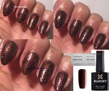 BLUESKY FROSTY CHOCOLATE BROWN SPARKLE JQ11 NAIL GEL POLISH LED UV SOAK OFF