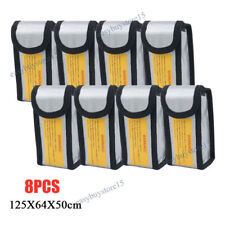 8x LiPo Safe Battery Guard Charging Protection Bag Explosion Proof 125X64X50mm