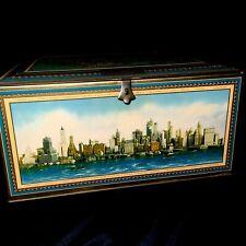 1920's -30's Beechnut Tin Litho Advertising Box Aeroplane View of Manhattan NYC