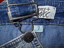 Overalls 7 Womens SMALL Denim Skinny Bibbed Harmony Havoc Blue Pants Jeans 6o24